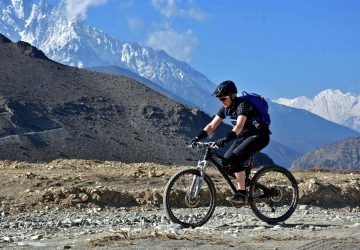 Mountain bike in Nepal